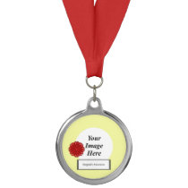 Burgundy Flower Ribbon Template by Kenneth Yoncich Medal