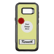 Burgundy Flower Ribbon Template by Kenneth Yoncich OtterBox Commuter Samsung Galaxy S8  Case