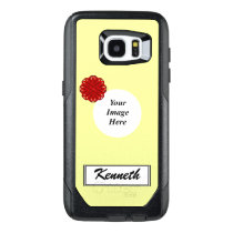 Burgundy Flower Ribbon Template by Kenneth Yoncich OtterBox Samsung Galaxy S7 Edge Case