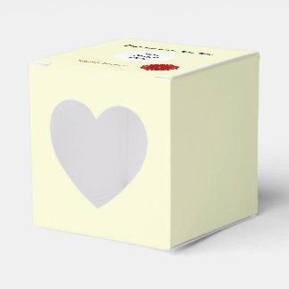 Burgundy Flower Ribbon Template Favor Box