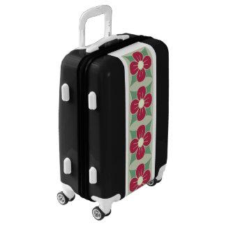Burgundy Flowers Luggage