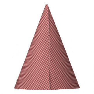 Burgundy Gingham-PAPER PARTY HATS