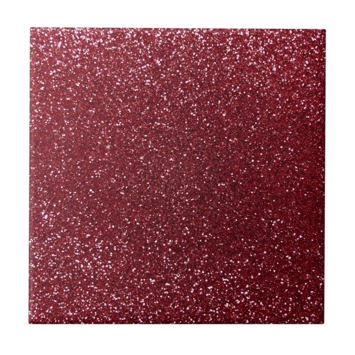 Burgundy Glitter Ceramic Tile Zazzle