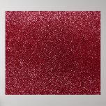 Burgundy glitter poster