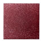 Burgundy glitter tiles