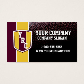 Burgundy & Gold Football Card