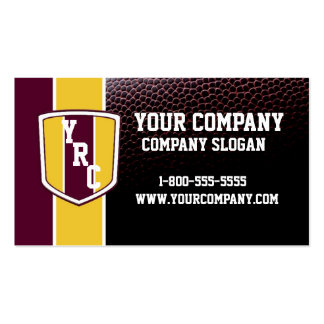 Burgundy & Gold Football Card Double-Sided Standard Business Cards (Pack Of 100)