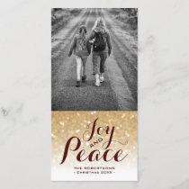 Burgundy & Gold Glitter | Christmas Card Joy Peace
