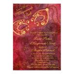 Burgundy Gold Masquerade Ball Sweet 16 Birthday Card