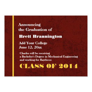 Burgundy Gold New Grad Announcement Any Year G200A