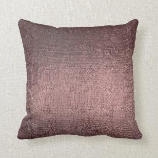 Burgundy Gray Pink Glam Brush Metallic Pillow