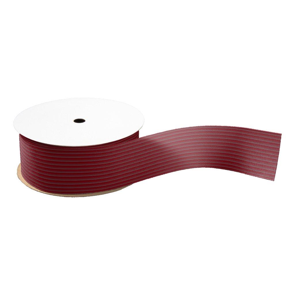 Burgundy Horizontal Thin Stripe Grosgrain Ribbon