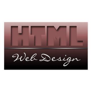 Burgundy HTML Web Design Sleek Business Cards
