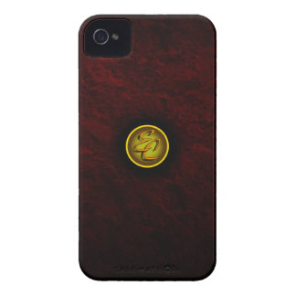 Burgundy Imperial Charm iPhone 4 Case-Mate Case