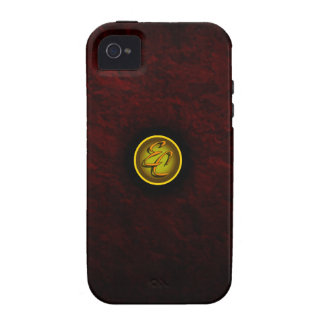 Burgundy Imperial Charm iPhone 4 Cover