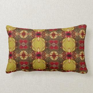 Burgundy Jewel pattern pillow
