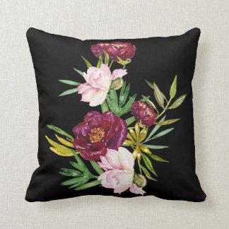 Burgundy Floral Throw Pillows : Burgundy And Black Pillows - Decorative & Throw Pillows Zazzle