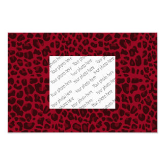 Burgundy leopard print pattern photo art