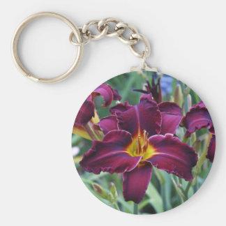 Burgundy Lily Keychain