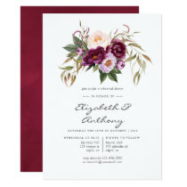 Burgundy - Marsala and Peach Rehearsal Dinner Invitation