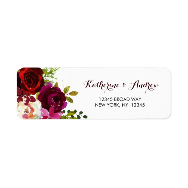 30 Flowers Return address labels,roses,floral,stickers,tags,pink and red roses