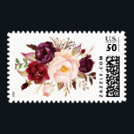 "Burgundy Marsala Plum Pink Peony Rustic Flowers Postage<br><div class=""desc"">Customize this &quot;Burgundy Marsala Plum Pink Peony Rustic Flowers Postage Stamps&quot; to add a special touch. Create yours and send them off in style! (1) For further customization, please click the &quot;customize further&quot; link and use our design tool to modify this template. (2) If you need help or matching items,...</div>"