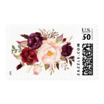 Burgundy Marsala Plum Pink Peony Rustic Flowers Postage<br><div class='desc'>Customize this &quot;Burgundy Marsala Plum Pink Peony Rustic Flowers Postage Stamps&quot; to add a special touch. Create yours and send them off in style! (1) For further customization, please click the &quot;customize further&quot; link and use our design tool to modify this template. (2) If you need help or matching items,...</div>