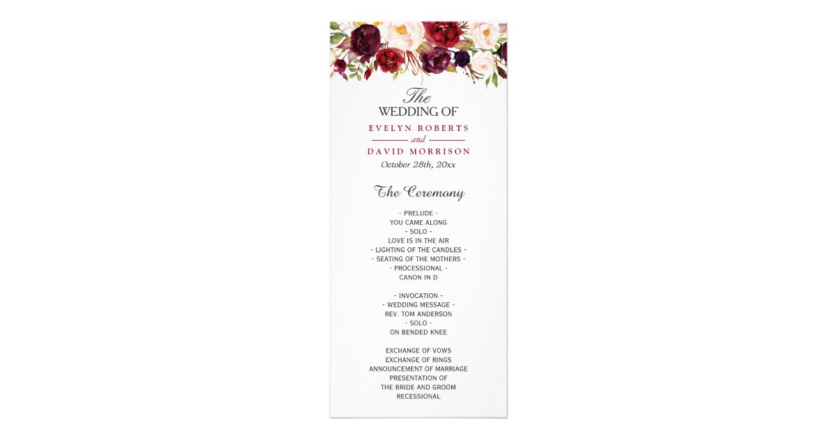 wedding program covers