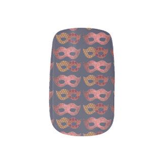 Burgundy Masks Minx Nail Art