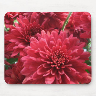 Burgundy Mums Mouse Pad