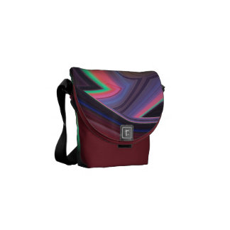 Burgundy N Sherbet Swirls Mini Messenger Bag
