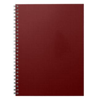 Burgundy Spiral Note Books