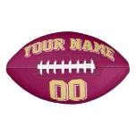 BURGUNDY OLD GOLD AND WHITE Custom Football