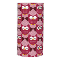 Burgundy Owls Flameless Candle