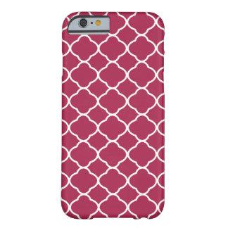 Burgundy Pattern Quatrefoil iPhone 6 Case