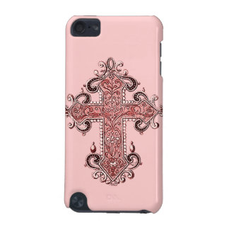 Burgundy Pink Cross Vintage Art iPod Touch 4G Case iPod Touch (5th Generation) Case