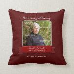 Burgundy Pinstripe Memorial American MoJo Pillow
