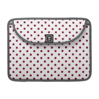 Burgundy Polka Dots Sleeve For MacBook Pro