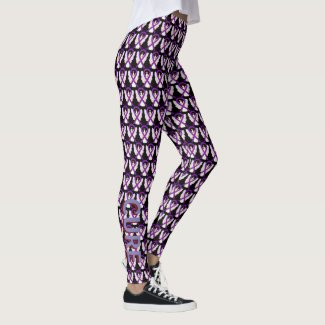 Burgundy & Purple Awareness Ribbon Angel Leggings