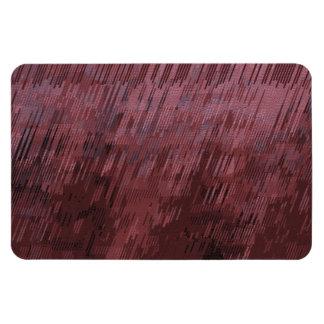 Burgundy Rain Rectangular Photo Magnet