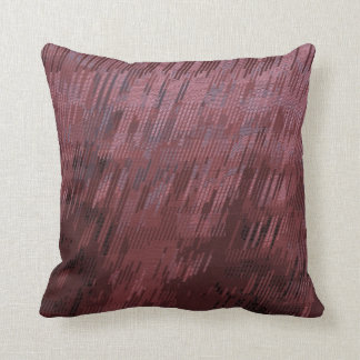 Burgundy Rain Throw Pillow