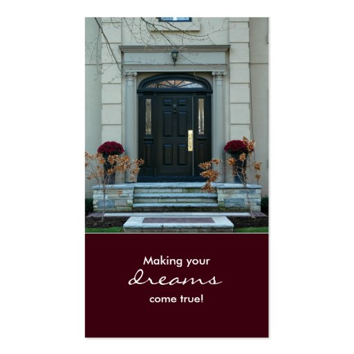 Burgundy Real Estate House Business Card