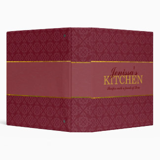 Burgundy Recipe Binder