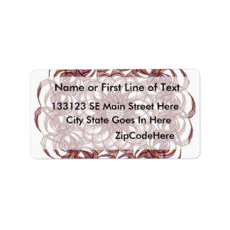 Burgundy (red and blue) rosette #1 design label