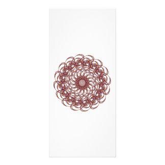 Burgundy (red and blue) rosette #1 design rack card