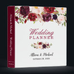 """Burgundy Red Botanical Floral Wedding Planner Binder<br><div class=""""desc"""">Customize this &quot;Burgundy Red Botanical Floral Wedding Planner Binder&quot; to add a special touch. It&#39;s easy to personalize to match your wedding colors, styles and theme. (1) For further customization, please click the &quot;customize further&quot; link and use our design tool to modify this template. (2) If you need help or...</div>"""