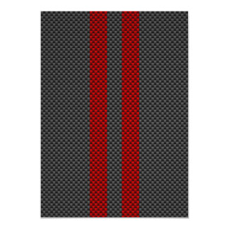 Burgundy Red Carbon Fiber Style Racing Stripes Card