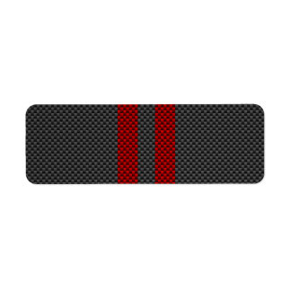 Burgundy Red Carbon Fiber Style Racing Stripes Label