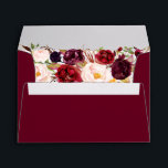 """Burgundy Red Floral Fall Envelope<br><div class=""""desc"""">Matching Wedding Collection in the Little Bayleigh Store!</div>"""