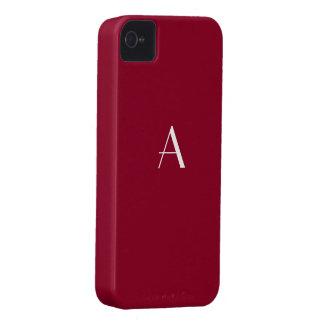 Burgundy Red iPhone4 Monogram Case iPhone 4 Case